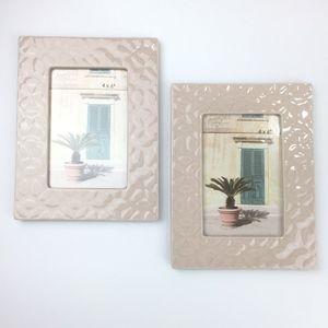 New Opalhouse 4x6 Photo Frame Pink Stoneware